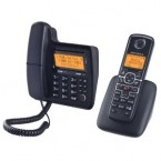 Motorola DECT 6.0 Enhanced Corded Base Phone with Cordless Handset and Digital Answering System - L702C