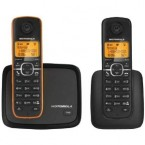 Motorola DECT 6.0 Cordless Phone with 2 Handsets and Caller ID - L602M
