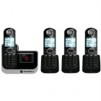 Motorola DECT 6.0 Enhanced Cordless Phone with 4 Handsets and Digital Answering System - L804