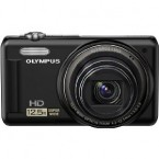 "Olympus 14MP Digital Camera with 12.5x Optical Zoom and 3"" LCD (Black) - VR-320BK"