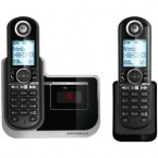 Motorola DECT 6.0 Enhanced Cordless Phone with 2 Handsets and Digital Answering System - L802