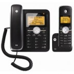 Motorola DECT 6.0 Enhanced Corded Base Phone with Cordless Handset and Digital Answering System - L402C