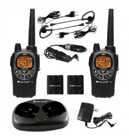 Midland 36-Mile 50-Channel FRS/GMRS Two-Way Radio (Black/Silver) - GXT1000VP4