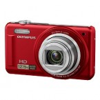"Olympus 14MP Digital Camera with 12.5x Optical Zoom and 3"" LCD (Red) - VR-320RD"