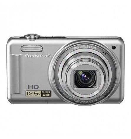 """Olympus 14MP Digital Camera with 12.5x Optical Zoom and 3"""" LCD (Silver) - VR-320SL"""